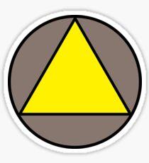 Yellow Triangle Sticker