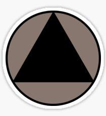 Black Triangle Sticker