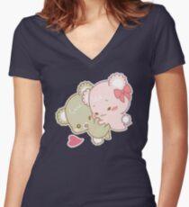 Sugar Cubs - Hug Women's Fitted V-Neck T-Shirt