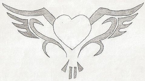 heart with wings by Justin Burdick