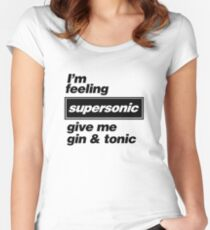 Oasis - Supersonic Lyrics design Women's Fitted Scoop T-Shirt