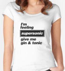 Oasis - Supersonic Lyrics Design Tailliertes Rundhals-Shirt