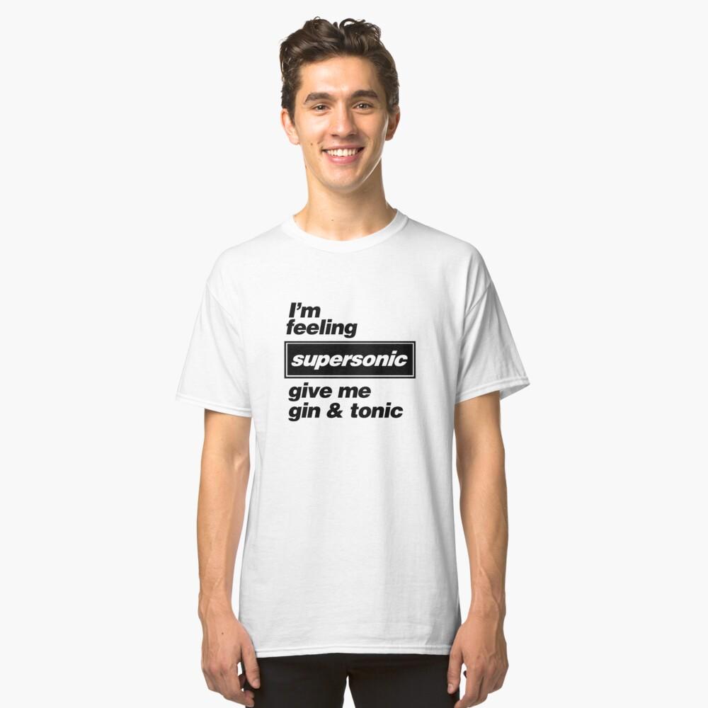 Camiseta clásicaOasis - Supersonic Lyrics diseño Delante