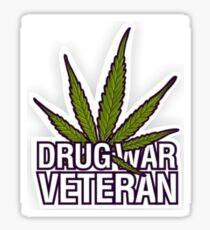 Drug War Veteran Sticker Sticker