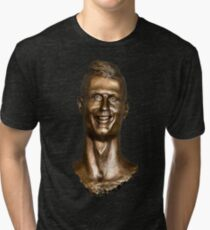 Cristiano Ronaldo Statue/Bust Tri-blend T-Shirt