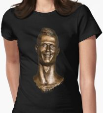 Cristiano Ronaldo Statue/Bust Women's Fitted T-Shirt