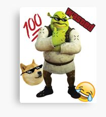 MLG SHREK Canvas Print