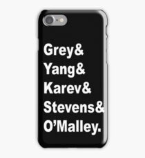 Greys Anatomy Originals  iPhone Case/Skin