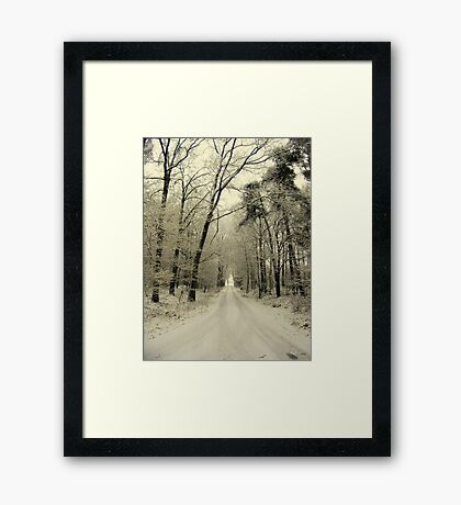 A New Year, The Road Ahead Framed Print