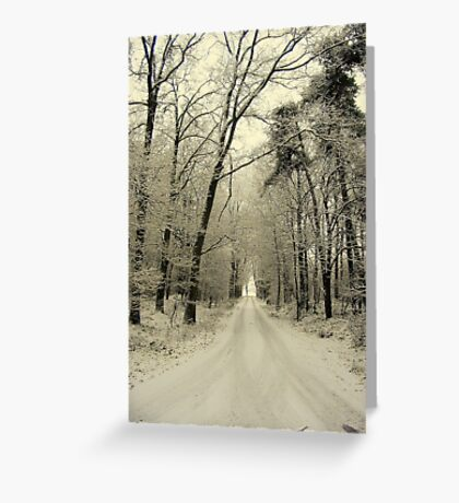 A New Year, The Road Ahead Greeting Card