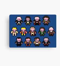 Pixel Doctor Who 1-12 Canvas Print