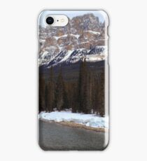 Castle mountain view iPhone Case/Skin
