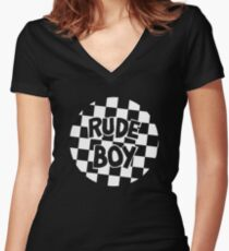 Prince - Rude Boy Big Chick Throwback Women's Fitted V-Neck T-Shirt