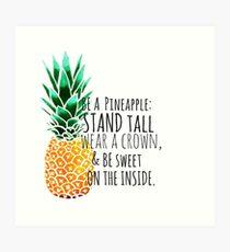 Be a Pineapple Plain Art Print
