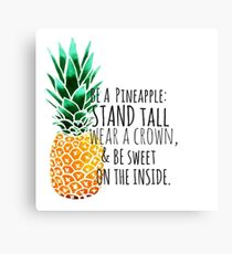 Be a Pineapple Plain Canvas Print
