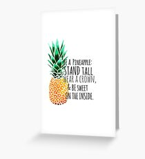 Be a Pineapple Plain Greeting Card