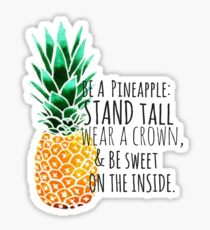 Be a Pineapple Plain Sticker