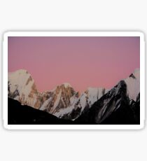 Pink Mountain Sky and Snow Sticker