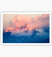 Mountains and Clouds Sunset Pink and Blue Sticker