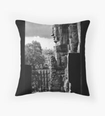 Bayon Temple Throw Pillow