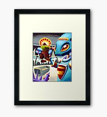 The stupid guy in the room Framed Print