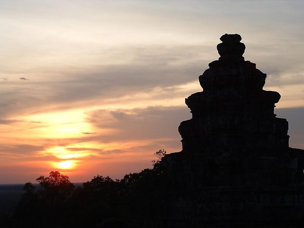 Cambodian Sunset by Bern
