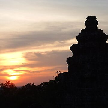 Cambodian Sunset by Bern