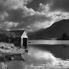 Boathouse, Llyn Cregennen by Hywel Harris