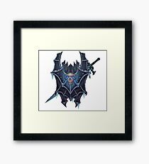 Frostmourne Shield & Sword Framed Print