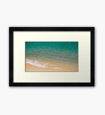 Sea and Sand - Ocean Beach Turquoise Framed Print