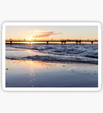 Pier Ocean Sunset in California Sticker