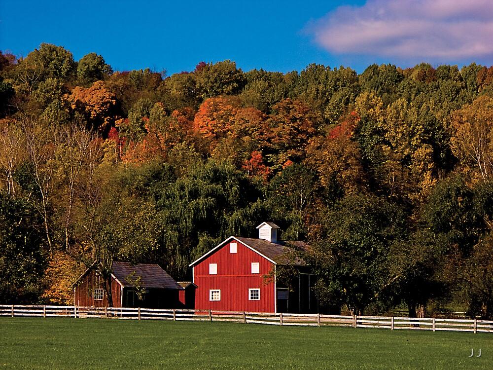 Autumn Farm by J J