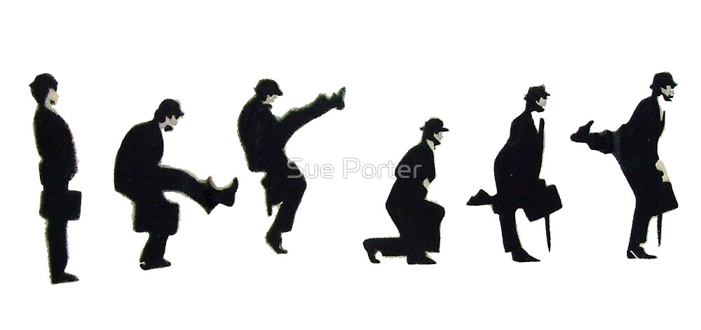 Silly Walk by Banksy by Sue Porter