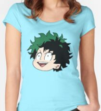 Young Midoriya Women's Fitted Scoop T-Shirt