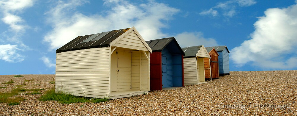 Beach Huts by Chameleon Photography