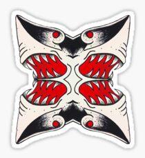Mirrored Shark Attack Sticker