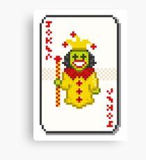 Pixel Joker Canvas Print