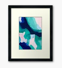 Lakeside abstract Framed Print