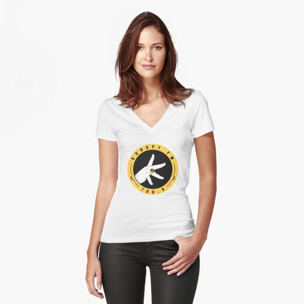 kurupt fm Camiseta entallada de cuello en V