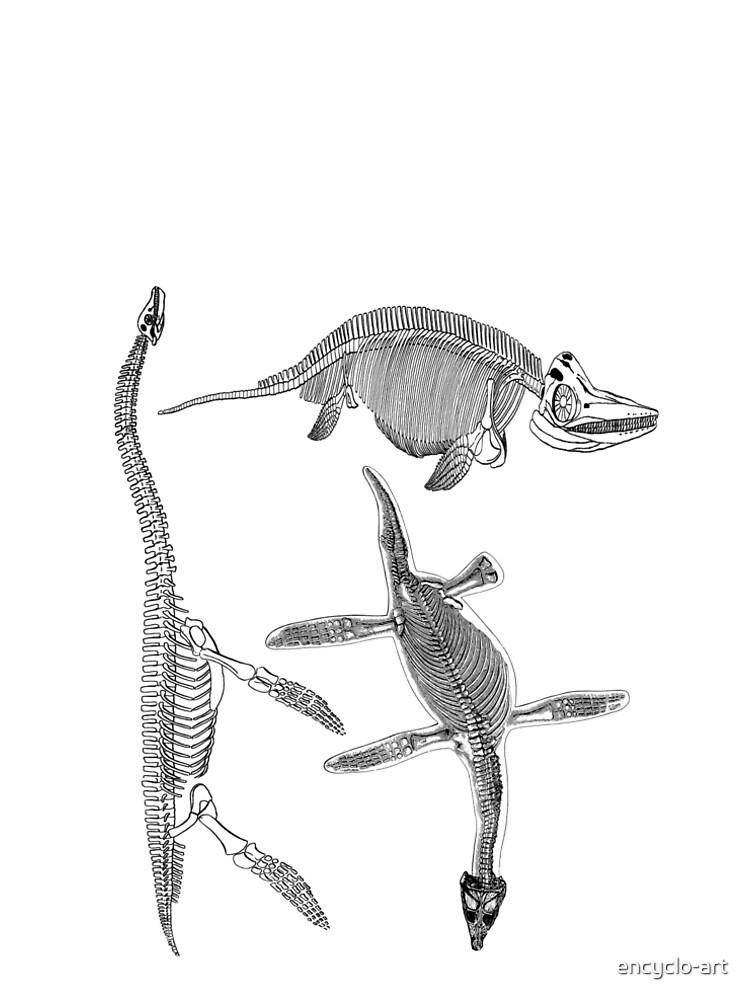 Prehistoric Dinosaur Sea Monster Skeleton Anatomy T Shirt\