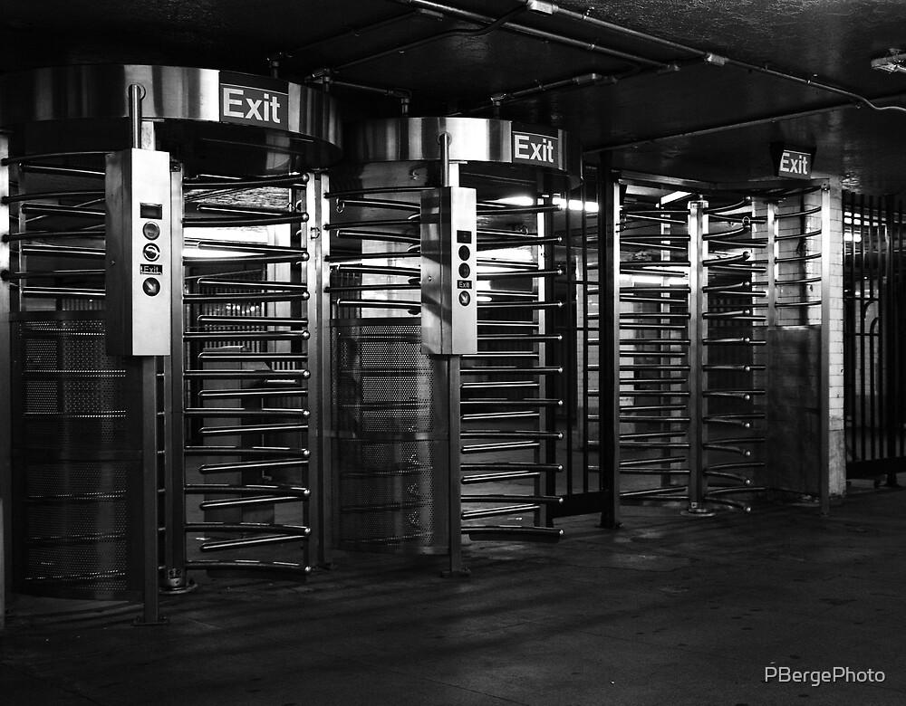 NYC Subway Turnstiles by PBergePhoto