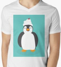 Penguin Sweetness Men's V-Neck T-Shirt