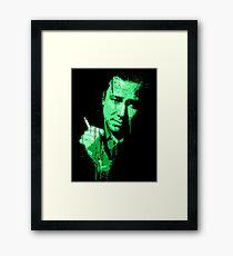 Bill Hicks (green) Framed Print