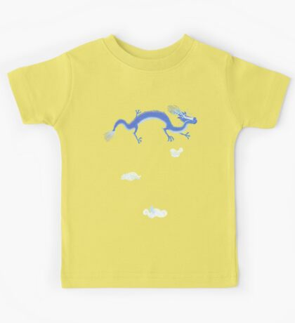 Blue Dragon and Mountain Kids Clothes