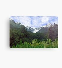 Two Glaciers Canvas Print