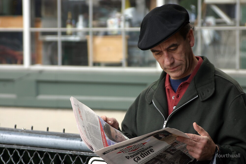 Man with Newspaper by fourthwall