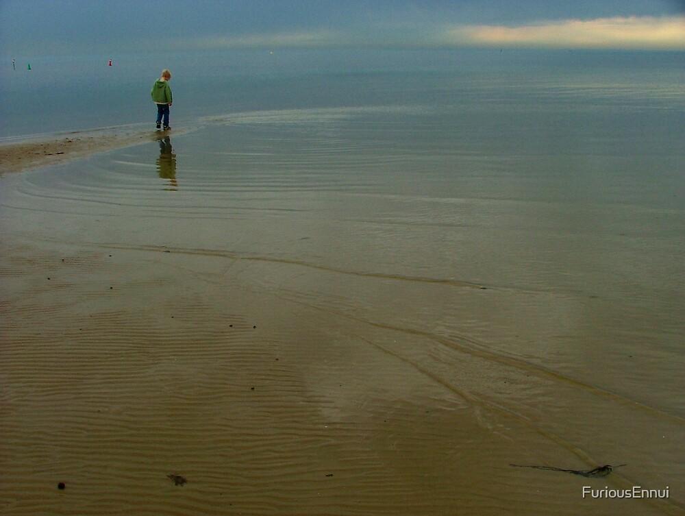 A Boy at a Beach by FuriousEnnui