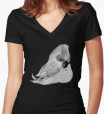 Wild Boar Women's Fitted V-Neck T-Shirt