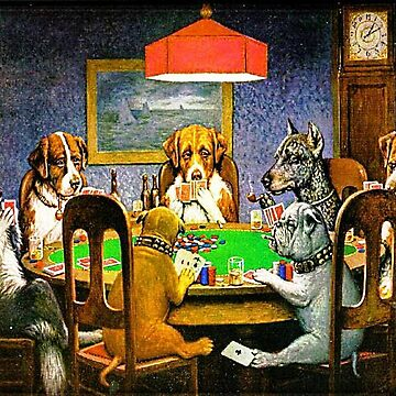 Dogs Playing Poker by MerryPerry