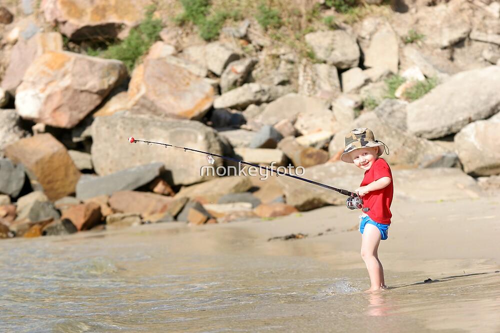 Fishing aged 2 by monkeyfoto
